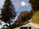 Hindelang, Oberjochpass, Schattwald mit Moto Guzzi