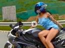 Hingucker: Sexy 'Workout' auf BMW S1000RR - Hammer-Frau!