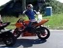 """Motorradunfall Autsch! - Ich sach noch: """"Pass auf Deinen Hintermann auf - der Idiot hat sie nicht alle! Crash"""