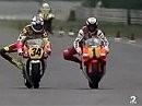 Hockenheim 1991 - MotoGP 500ccm - Zweikampf Rainey Schwanz