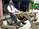 Bau eines Holzmotorrades - Grip optimal, Schräglage verbesserungswürdig