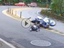 Honda CB600RR Crash: Reifen kalt, hingeknallt - Highsider