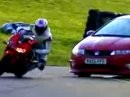 Honda CBR 1000RR vs Honda Civic - Fahrer: James Toseland