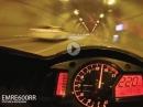 Honda CBR600RR eskalieren im Tunnel mit Soundcheck
