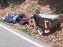 Honda Crash, Dragon Tail, Deals Gap - Kurve ausgegangen