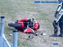 Honda Crash Nordschleife - auf Ölspur abgeflogen
