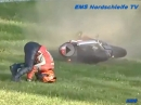 """Honda Crash Nürburgring Nordschleife. Die Honda """"übers Vorderrad"""" abgelegt"""
