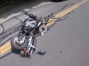 Honda Crash übers Vorderrad: