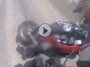 Honda Crash: Wenn die Magna um sich haut, wird Asphalt sich angeschaut
