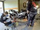 Motor einbauen - Honda Fireblade SC44 - Zeitraffer