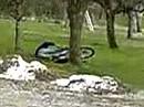 Sturz Honda MTX 80 deswegen fährt man im Gelände im stehen