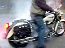 Honda Shadow VT 750, Silvertail K02, Burnout