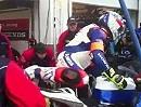 Honda TT Legends Bol d'Or 2012 Boxenstop. Einmal Reifenwechsel und Tanken bitte