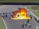 Horror Crash CEV Moto2 Aragon - KEIN Fahrer ernsthaft verletzt