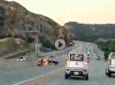 Horror Crash: Fußtritt mit Jojo Effekt - Roadrage ganz übel