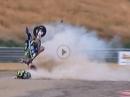 Horror Crash. Yamaha Kernschrott Josh Herrin in Utah - Fahrer OK - R1 Totalschaden