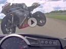 Horror Rennunfall: Vom fliegende Motorrad getroffen - Fahrer ok!!!