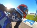 Horst Saiger onboard Jerez, Stock Yamaha R1, Metzeler K1 Slicks