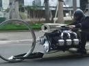Hubless Wheel Future Bike ausreichend motorisiert! Hat was