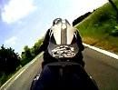 I Feel love mit Triumph Daytona im Bayerischen Wald. Test mit GoPro. Hero