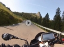Ibergeregg Pass von Oberiberg nach Schwyz mit Aprilia Tuono V4 1100 RR