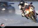 Ice Age 5 Motorrad extrem: Porsche GT3 RS vs. Yamaha R1 258 kmh auf Eis