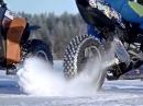 Iceracing: Suzuki GSX-R 1000 vs ATV - Abgefahren und crazy