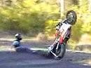 Weil ich am Gas gut bin, bin ich der Wheelie King - uuuuund Abflug