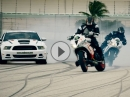 ICON Drift Kracher: Motorrad vs Mustang: Drift Battle 4 - Vigil, Brocha