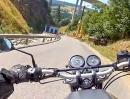 Innerkrems, Reitern, Kremsbrücke (Österreich) engagiert mit Honda CB 500