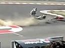 Irrsinniger Crash - Makoto Tamada in Imola bei der Superbike WM 2009 - die Kawa wird zum Geschoß