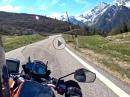 Jaufenpass abwärts nach Meran mit KTM 1090 Adventure