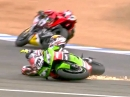 Jerez SBK-WM 2014 Race1 Highlights - Aprilia Doppelsieg