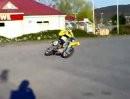 Jogis erste Drift-Versuche