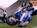Jon Kirkham Crash Oulton Park 2012 MCE BSB 2012. Race1 Sieht nur schlimm aus!