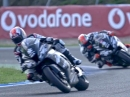 Jonathan Rea, Tom Sykes,Kawasaki, Zeitlupenstudie aus Jerez