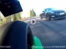 Kawasaki Ninja H2 vs JRM Racing Nissan GTR E85 (863 PS 1130 Nm) Pffffff