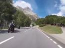 Julierpass von Silvaplana in Richtung Chur mit BMW R1250GS