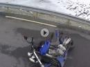 Kalte Straße, zu viel Gas - Da lag die Hornet auf der Nas´ Crash in Norwegen