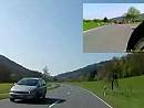 Kameratest: Neustadt Richtung Lützelbach mit zwei Kameras gefilmt