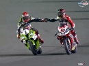 Katar SBK-WM 2014 Race2 Highlights Guintoli Weltmeister 2014