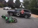 Kawa Crash - An Kreuzung abgeräumt, Fahrerin gepennt :-(