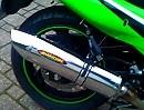 Kawasaki GPZ 500 Barracuda 2ind1 Auspuffanlage ohne DB-Killer