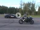 Kawasaki H2 vs. Bugatti Veyron 16.4 von außen gefilmt
