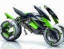 Kawasaki J Konzept Studie: Dreirad, eMotor und variable Breite
