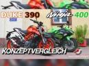 Kawasaki Ninja 400 vs. KTM Duke 390 - A2 Konzeptvergleich von Asphalt-Süchtig