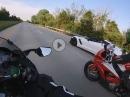 Kawasaki Ninja H2 vs. Corvette Z06 - High speed chase