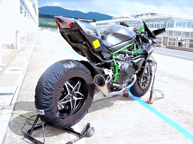 Kawasaki Ninja H2R Rennstreckentest