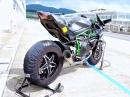 Kawasaki Ninja H2R Rennstreckentest - hört sich geil an!