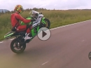 Kawasaki Ninja ZX-10R Wheelie Time und Fun